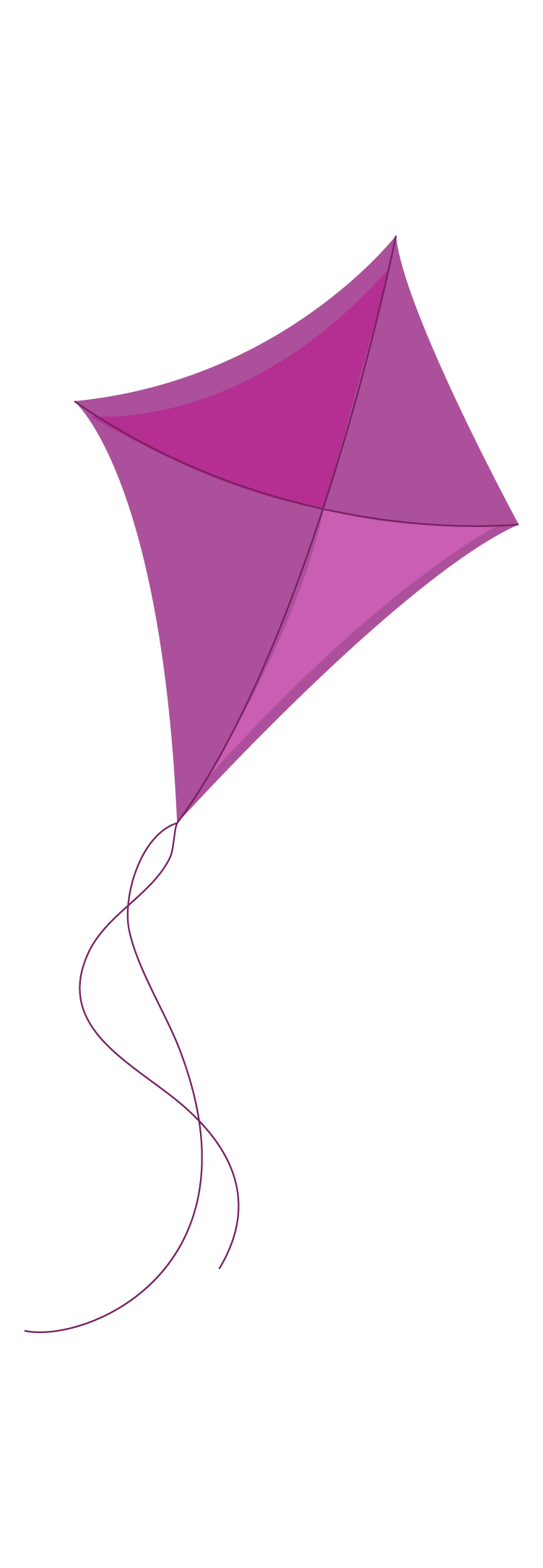 A purple kite